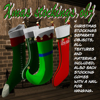 3d xmasstockings stockings