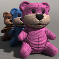 toy bear 3d obj