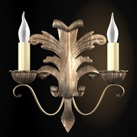 classic antique sconce 3d model
