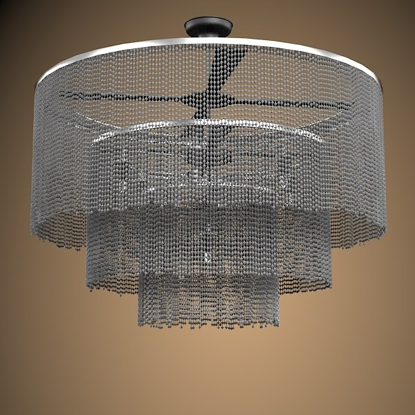 WillowlAMP 3-Tier collection contemporary modern round ceiling lamp chandelier chain steel big
