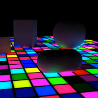 3d lwo disco dance floor
