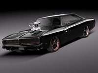 3ds max dodge charger 1969 sport