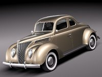 3d max 1937 coupe antique