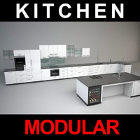 3d modular kitchen