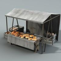 Marketstall Bread lowpoly