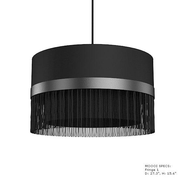 moooi fringe pendant suspension chandeiler mooi round black white