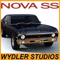 3d chevrolet nova ss model