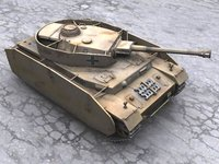 pancer panzer iv tank ww2 3d 3ds