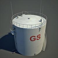 3ds max oil tank