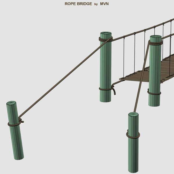 3d rope bridge model - Rope Bridge... by mvn