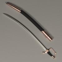 sabre cut saber 3d model