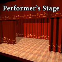 maya performer s stage curtain