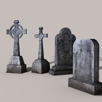head stone headstones 3d max
