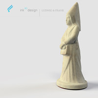antique chess queen 3d model