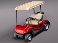 yamaha golf car g29e 3d model