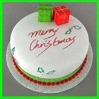 3d model christmas cake