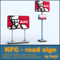 3ds max road signs kfc