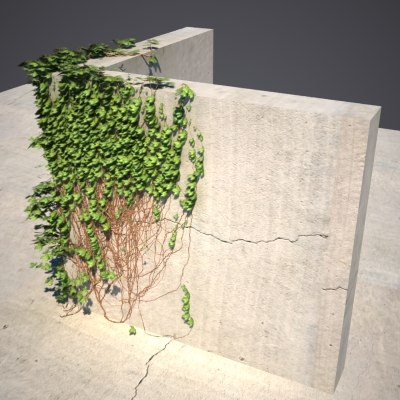 3d wall ivy model - Ivy Corner... by MilosJakubec