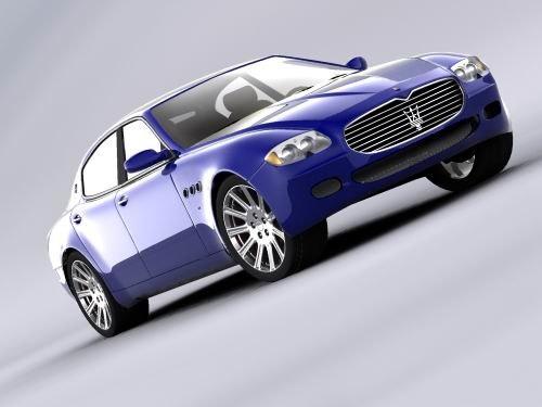 Maserati quattroporte 3d max for Porte 3ds max
