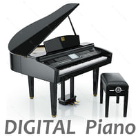 Digital Grand piano from Yamaha CVP-409 GP (Black)