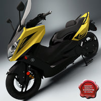 scooter yamaha tmax 3d model