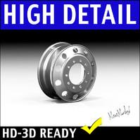 Semi Truck Wheel Rim 3D Model