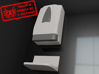 3d model restroom soap dispenser 2010