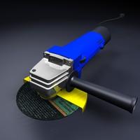 angle grinder 3d model