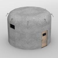 military bunker 3d model