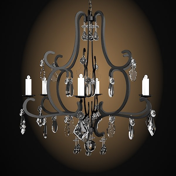 classic iron forged tradidional celing lamp chandelier crystal glass swarowski.jpg