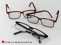 eyeglasses with 3 materials