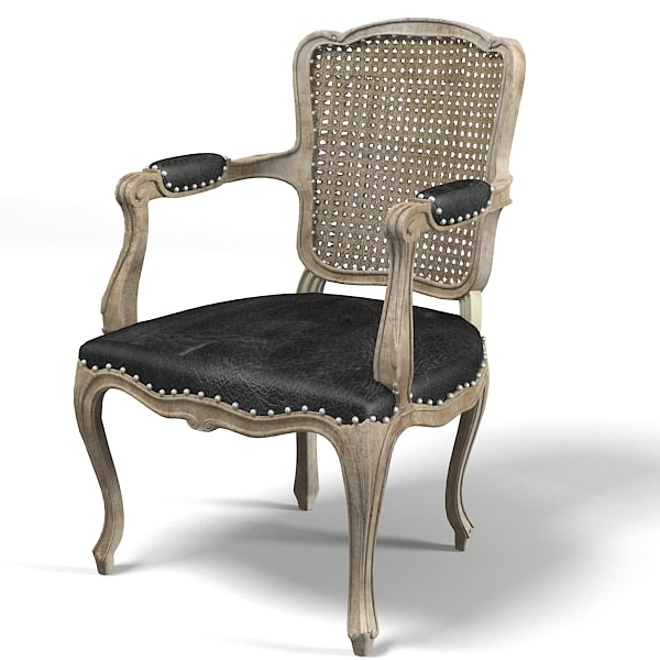 3d model guest chair armchair