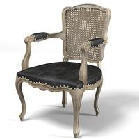 3d model guest chair armchair