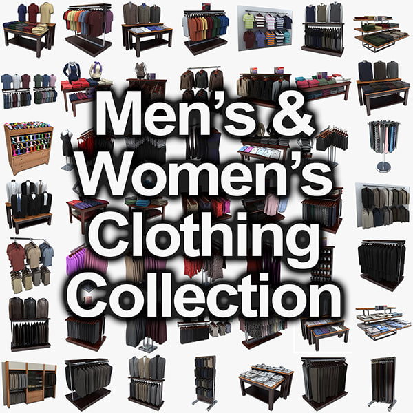 men womens clothing 3ds - womens and mens clothing collection... by monkeyodoom