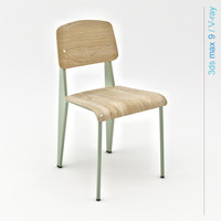 3d ma jean prouvé design chair