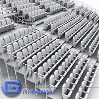 theatre raked seating 3d max