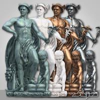3dsmax statue 4