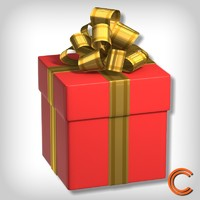 3d giftbox christmas model