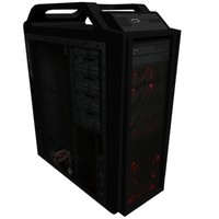 free cooler master computer case 3d model