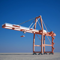 3d crane container model