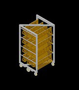 free smokehouse trolly 3d model