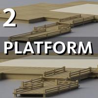3d model platform cafe bar