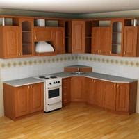 3dsmax kitchen furniture