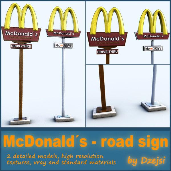 Bad Road Signs Road Sign Mcdonald´s