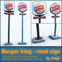 Road sign - Burger king