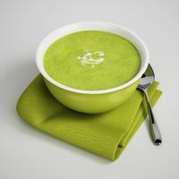 3d model bowl soup