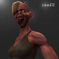3d max zombie female