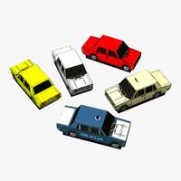 3d paper lada model