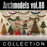 archmodels vol 88 christmas decorations 3d model