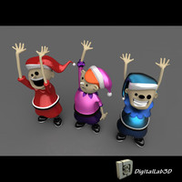 christmas elves c4d